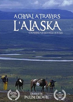 a cheval à travers l'Alaska